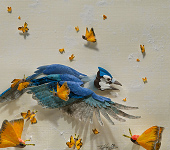 Tiffany Miller Russell - Paper Sculpture - Blues and Sulphurs
