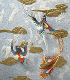 Tiffany Miller Russell - Paper Sculpture - Paleoart - Confuciusornis as the Phoenix