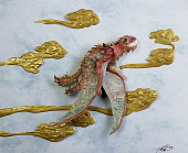 Tiffany Miller Russell - Paper Sculpture - Paleoart - New Kite