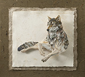 Tiffany Miller Russell - Paper Sculpture - Wolf Repose